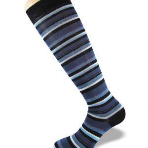 CalzeNoi2-Noi2socks-antispaiamento-Bologna-blu-violetto-gamba-fianco