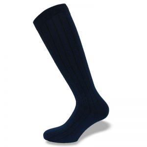 Milano gamba blu scuro lunga lato